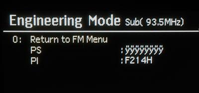 Menu radio