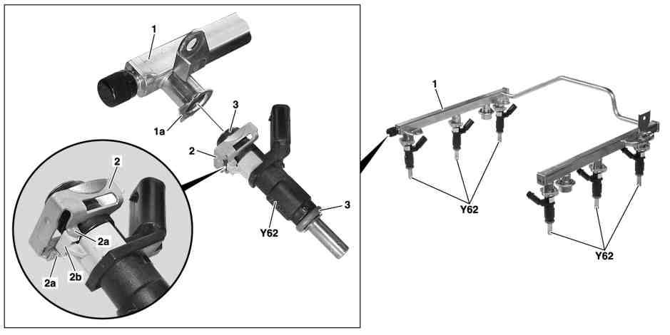 montage injecteurs W211