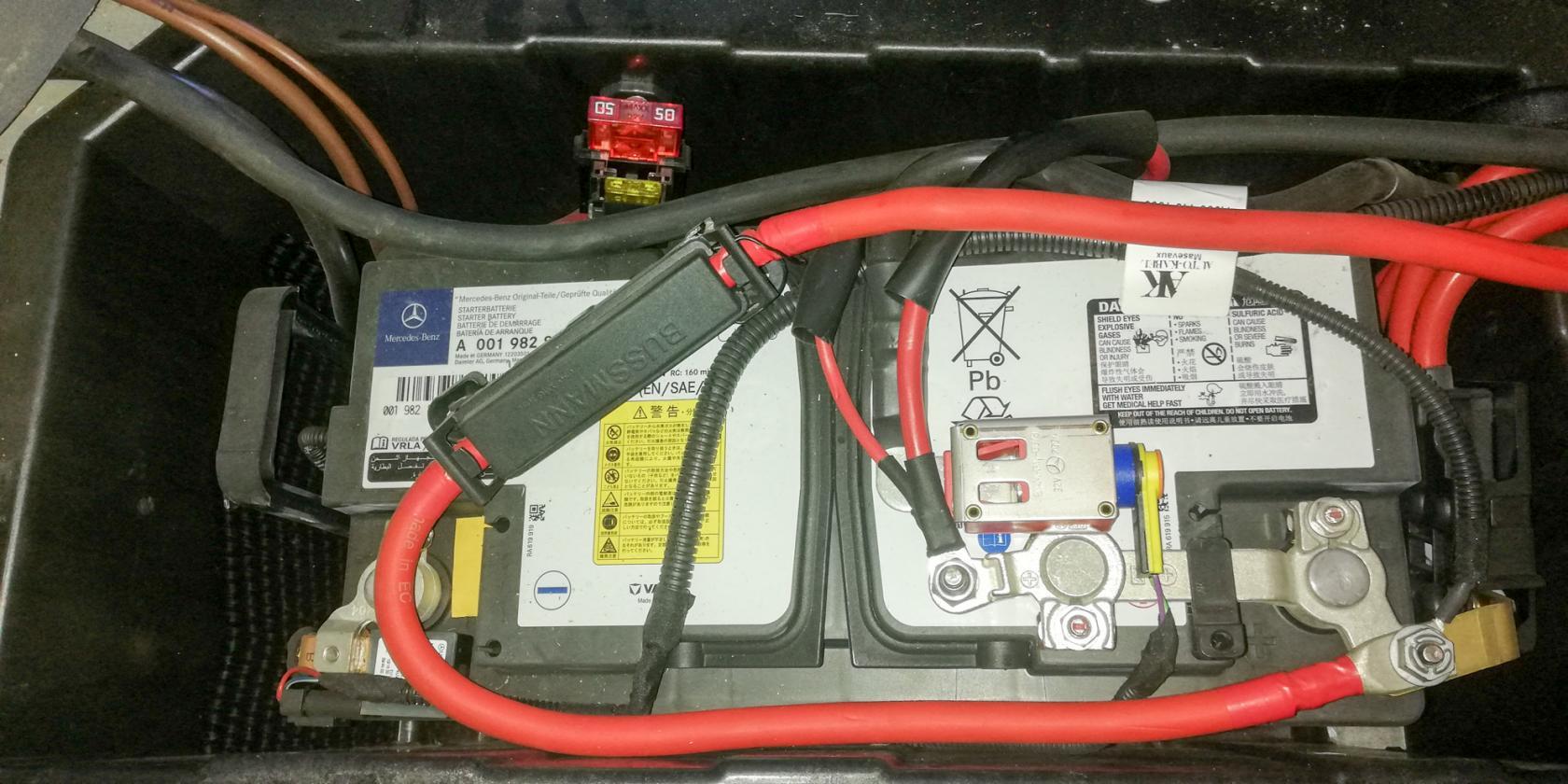 Zone batterie