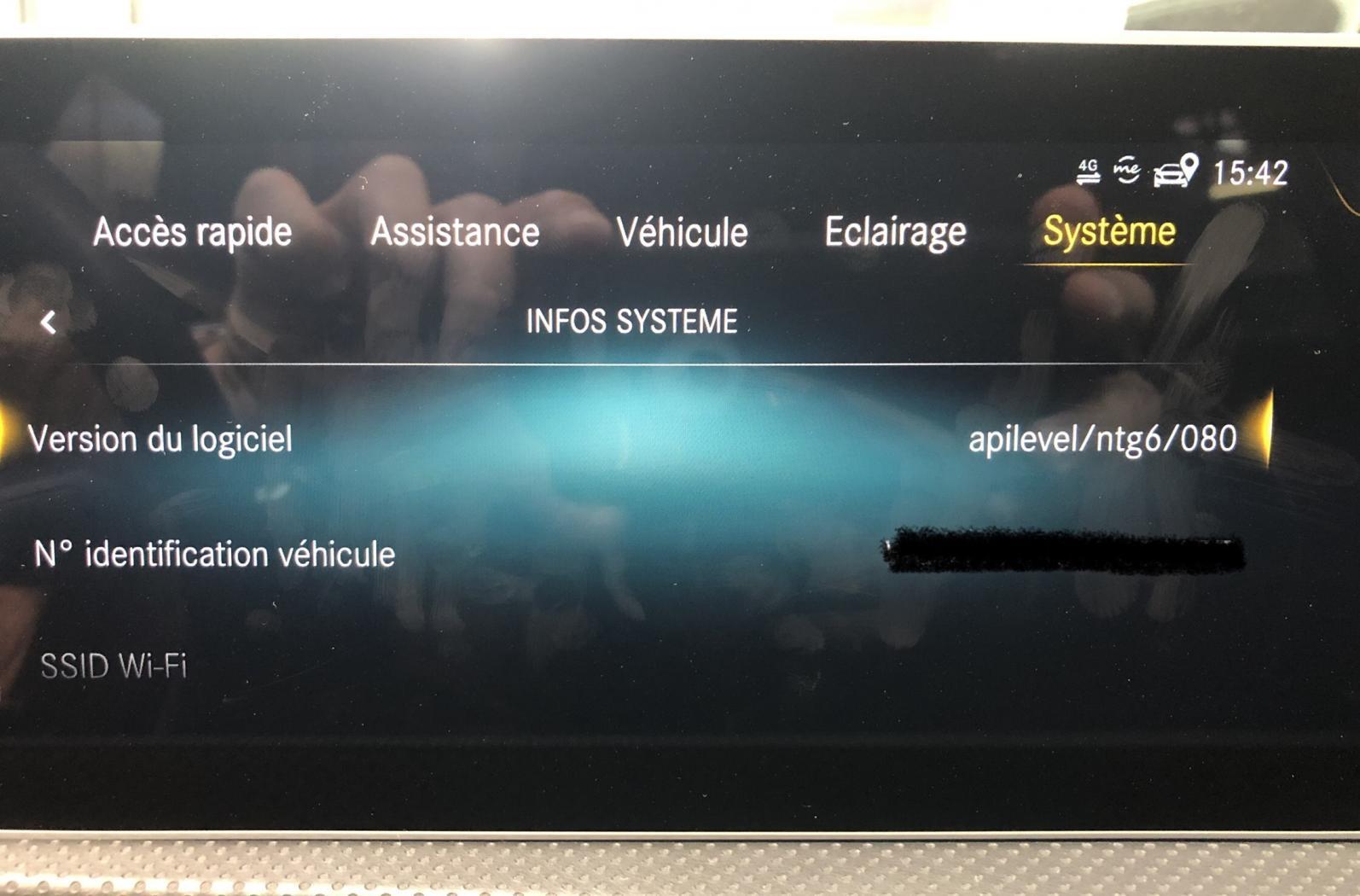 Affichage depuis le menu Systeme