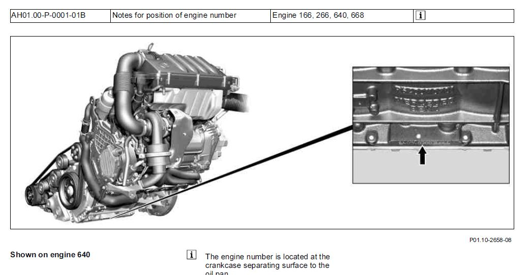 W245 ENGINE NUMBER