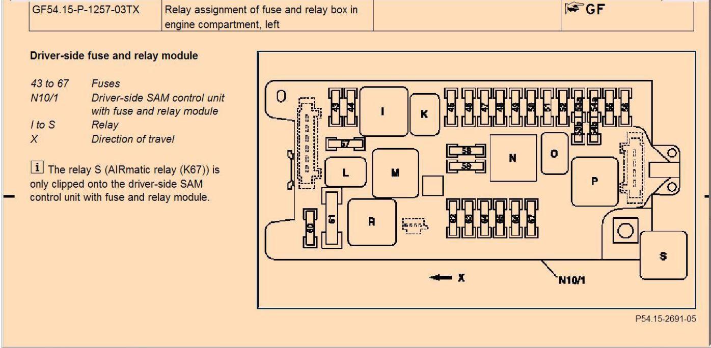 W219 AIRMATIC RELAIS
