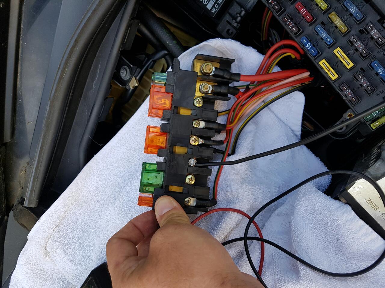 branchement 12 volt puissance